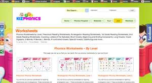 kizphonics worksheets for kids